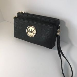 Black Michael Kors Club Wallet